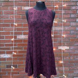 Loft Purple Flower Detail Sleeveless Dress